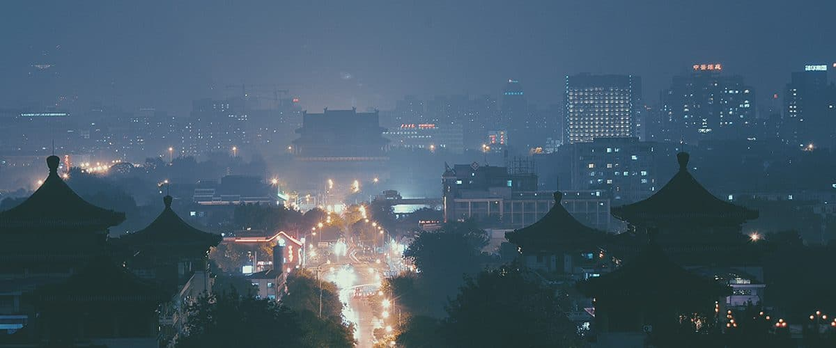 china at night