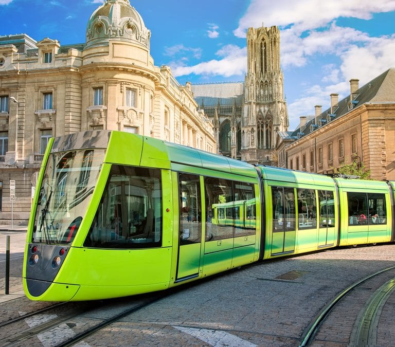 Electric Tram in Reims, France
